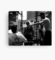 Angry in the Park Canvas Print