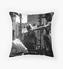 Angry in the Park Throw Pillow