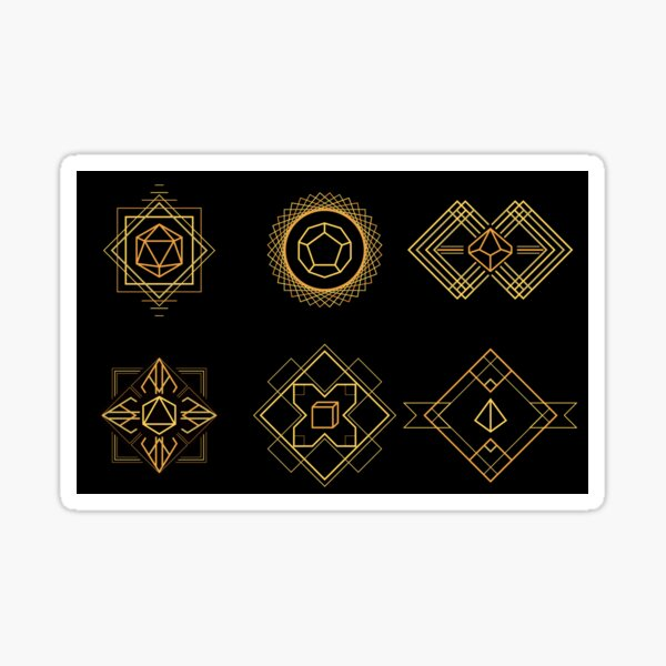 Art Deco Dice Sticker