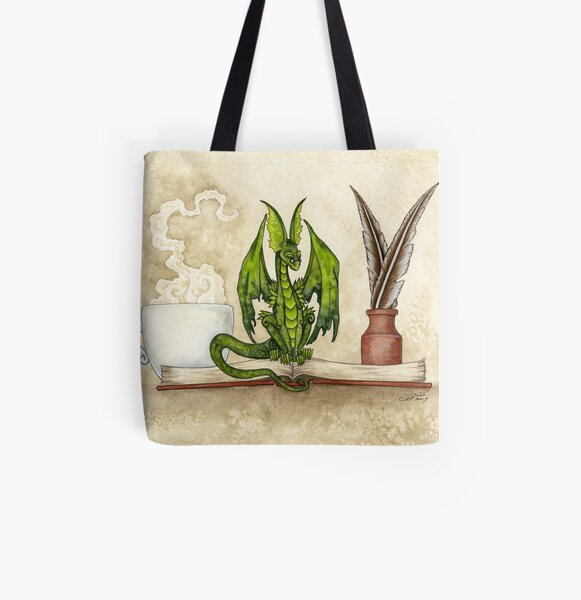 The Scholar All Over Print Tote Bag