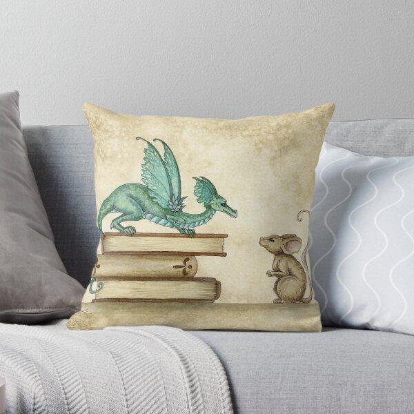 A Curious Encounter Throw Pillow