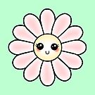 Kawaii Daisy | Pink Blossom Flower by LolitasAdorned