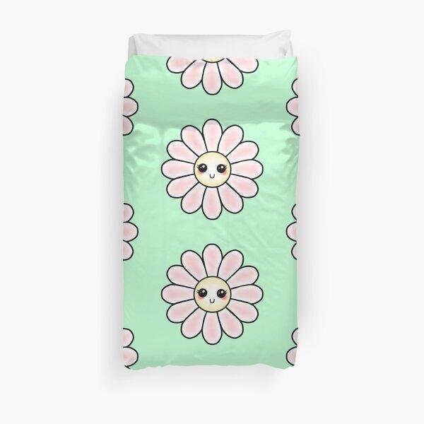 Kawaii Daisy | Pink Blossom Flower Duvet Cover