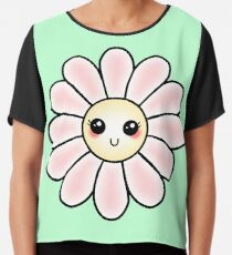 Kawaii Daisy | Pink Blossom Flower Chiffon Top