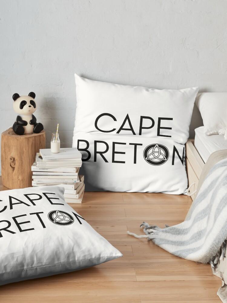 Alternative Ansicht von Kap-Bretonischer Keltischer Knoten Bodenkissen