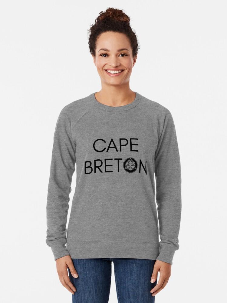 Alternative Ansicht von Kap-Bretonischer Keltischer Knoten Leichter Pullover