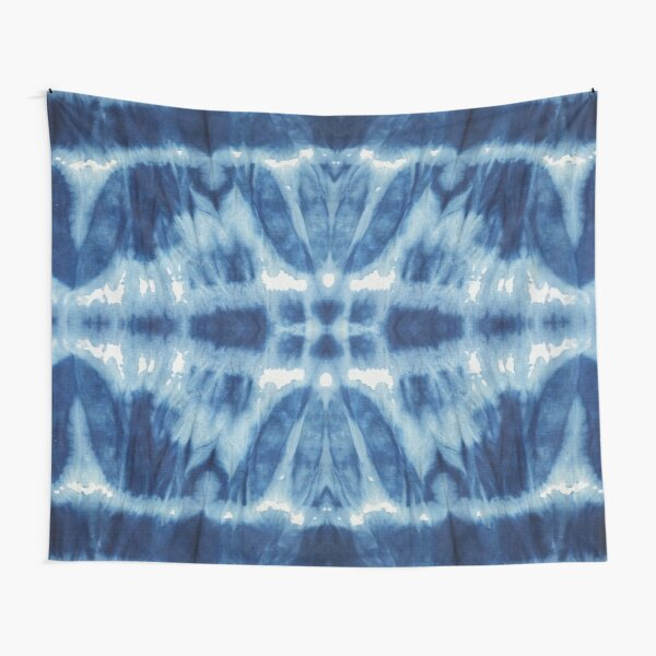 Tie-Dye Blues Twos Tapestry