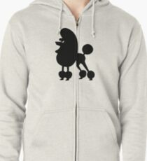 Angry Animals - French Poodle Zipped Hoodie