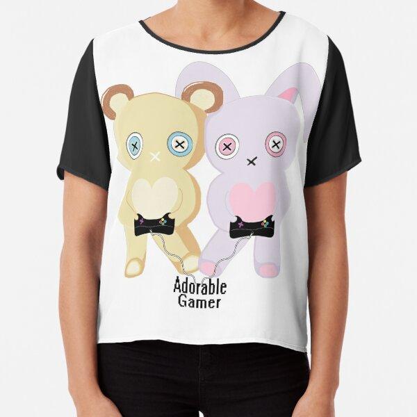 Adorable Gamer ~ Teddy & Bunny Chiffon Top