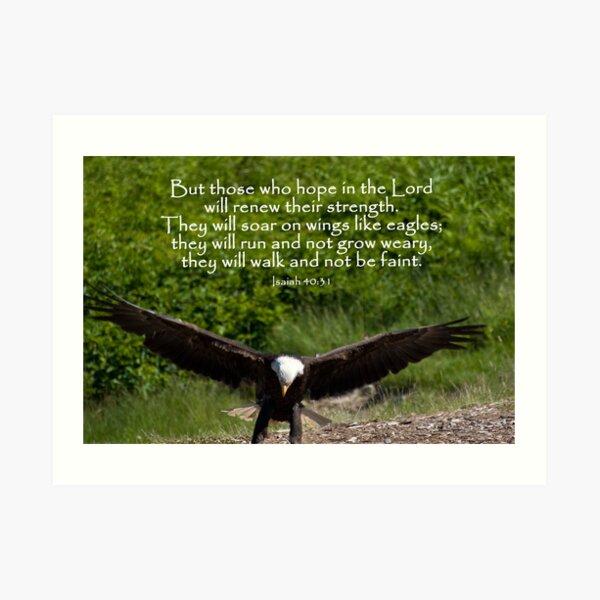 Isaiah 40:31 Art Print