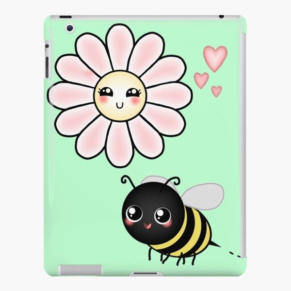 Kawaii Bumble Bee & Kawaii Daisy   Pink Blossom Flower iPad Snap Case