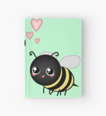 Kawaii Bumble Bee & Kawaii Daisy   Pink Blossom Flower Hardcover Journal