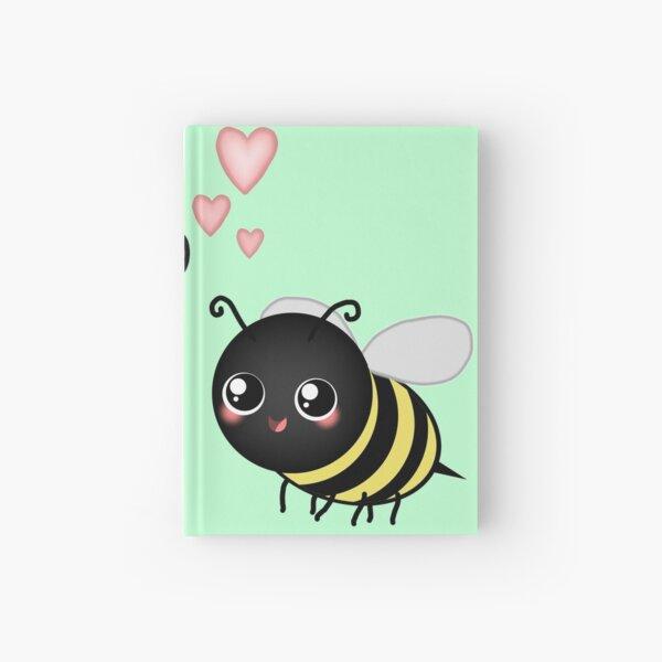 Kawaii Bumble Bee & Kawaii Daisy | Pink Blossom Flower Hardcover Journal