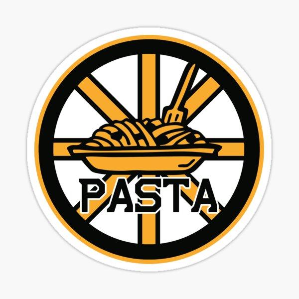 Black Bruins Boston Pastrnak Pasta Shirt Sticker