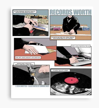 Records Worth Canvas Print
