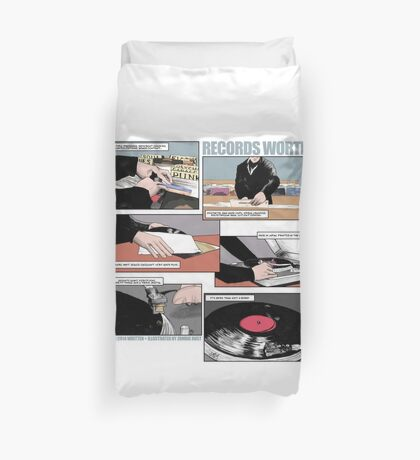 Records Worth Duvet Cover