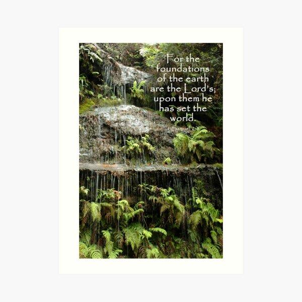 1 Samuel 2:8 Art Print