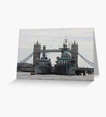 HMS Belfast and HMS Richmond London Greeting Card