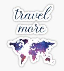Travel More Sticker