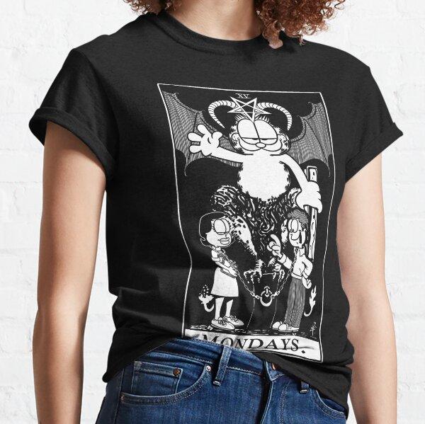 Garfield Tarot: Mondays (White Ink) Classic T-Shirt