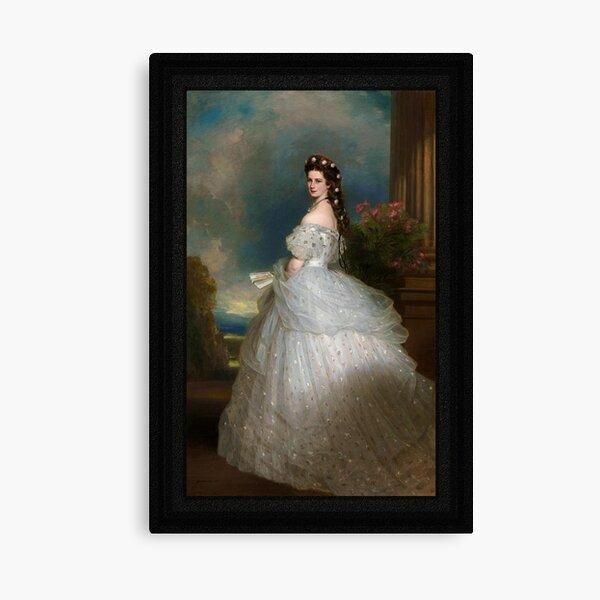 Portrait Of Empress Elisabeth of Austria by Franz Xaver Winterhalter Canvas Print