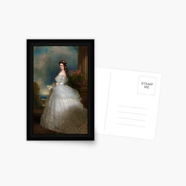 Portrait Of Empress Elisabeth of Austria by Franz Xaver Winterhalter Postcard