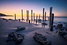 Port Willunga Afterglow by Ray Warren