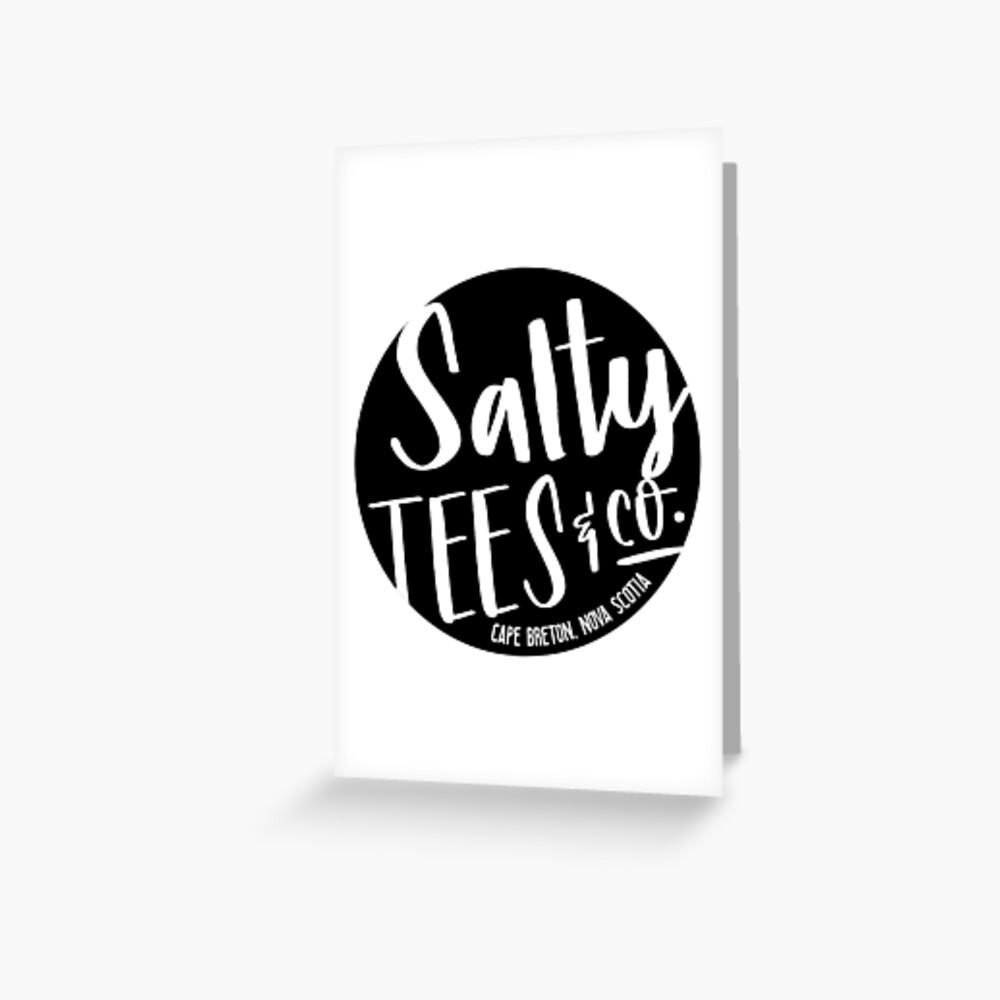Salzige T-Stücke u. Co.-Logo Grußkarte
