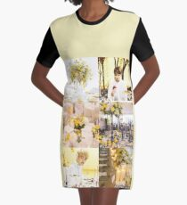 BTS Vkook - Gelbe Blumen T-Shirt Kleid
