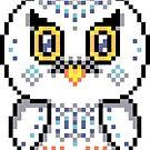 Snowy White Owl Pixel  by FrogNebula