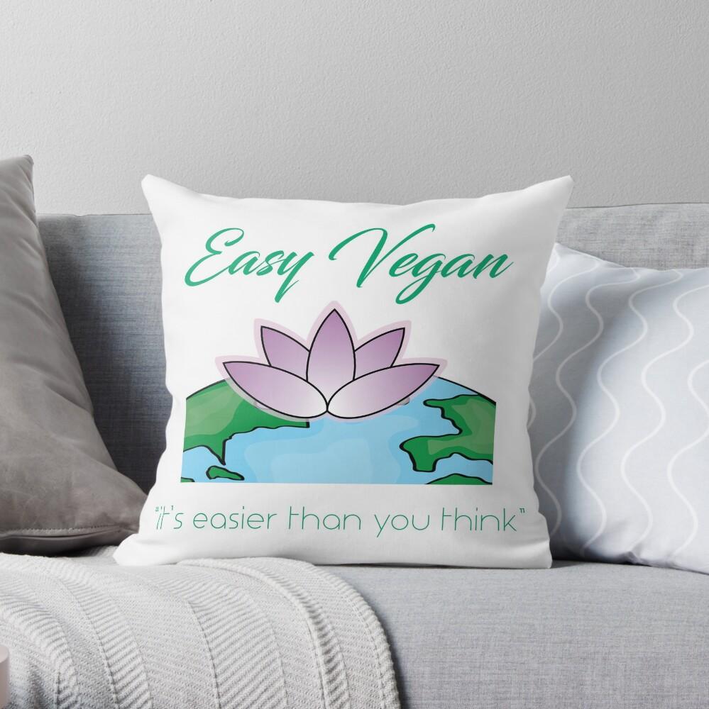 Easy Vegan Throw Pillow