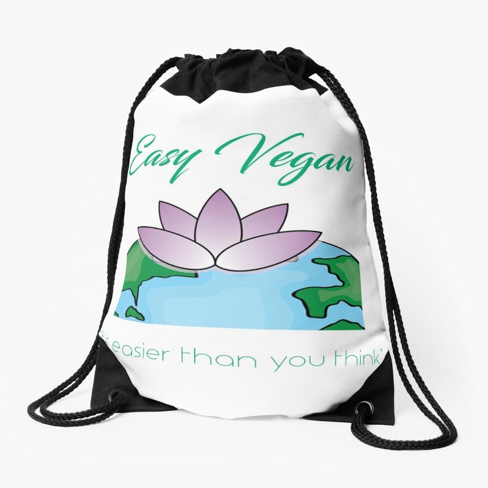 Easy Vegan Drawstring Bag
