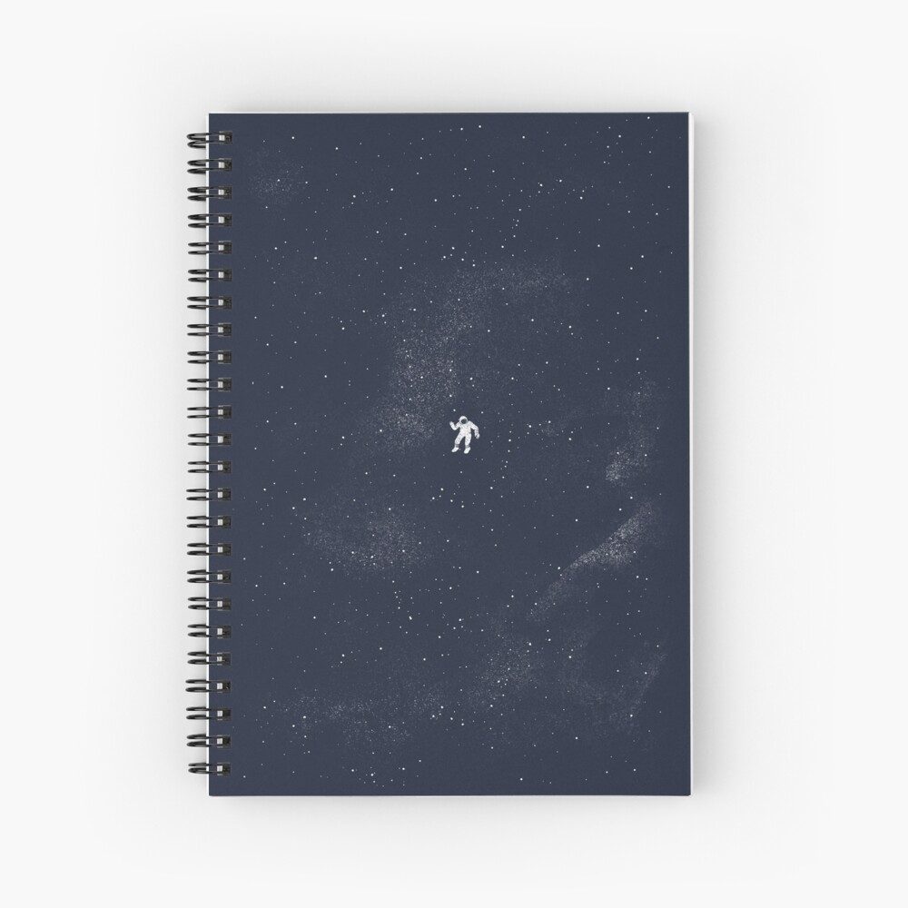 Gravity - Dark Blue Spiral Notebook
