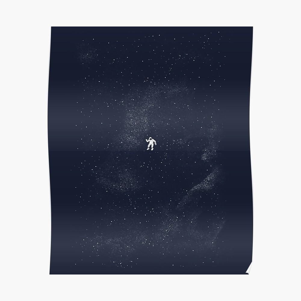 Gravity - Dark Blue Poster