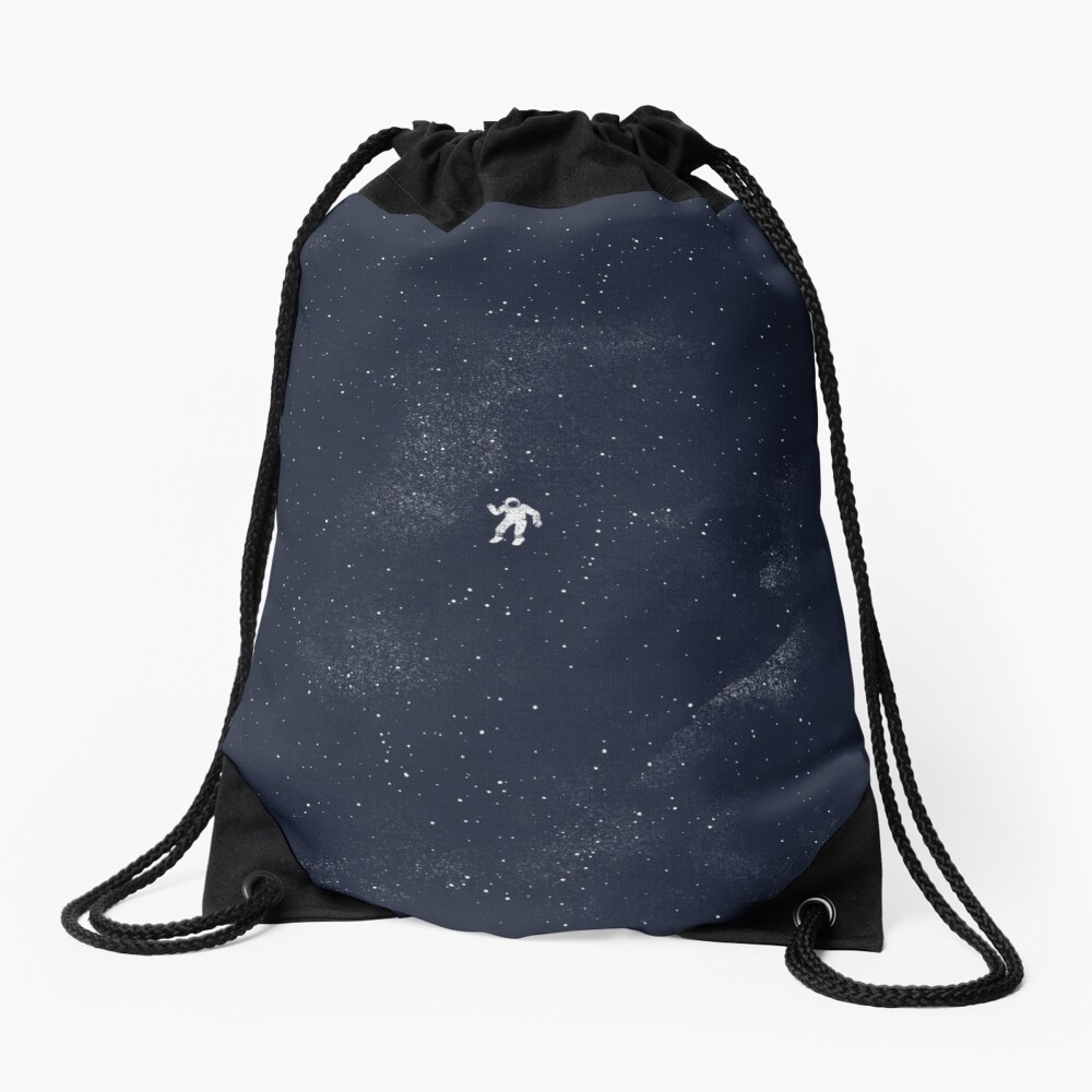 Gravity - Dark Blue Drawstring Bag