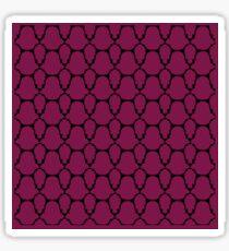 Design blocks, ethnic deep pink Sticker