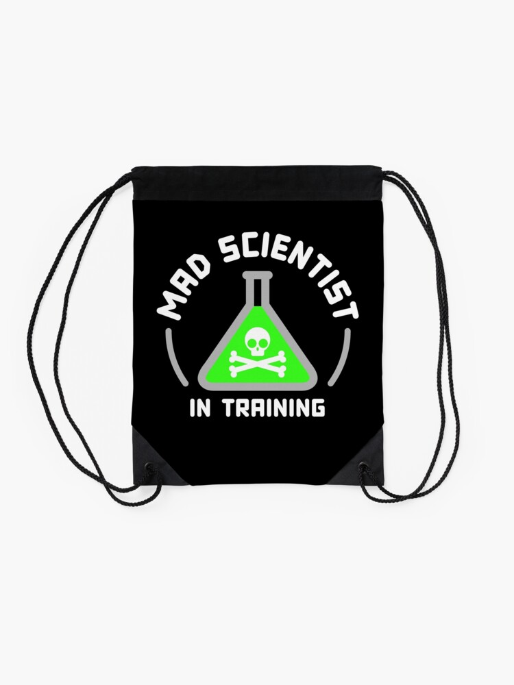 Alternate view of Mad Scientist in Training Drawstring Bag