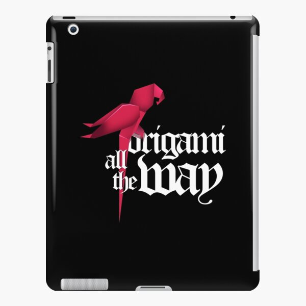 Origami All The Way Paper Folding Japanese print iPad Snap Case
