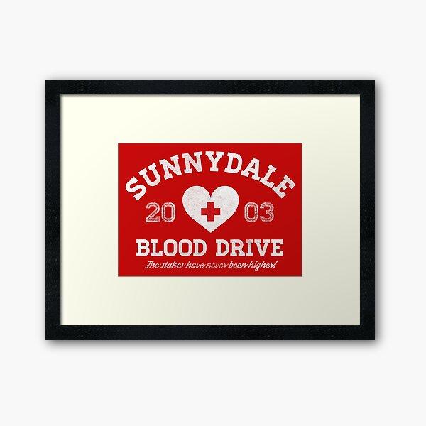 Sunnydale Blood Drive Framed Art Print