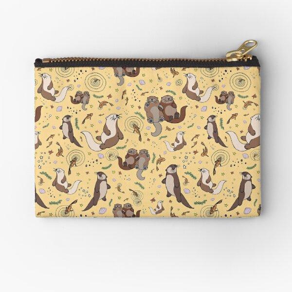 Otters in Yellow Zipper Pouch
