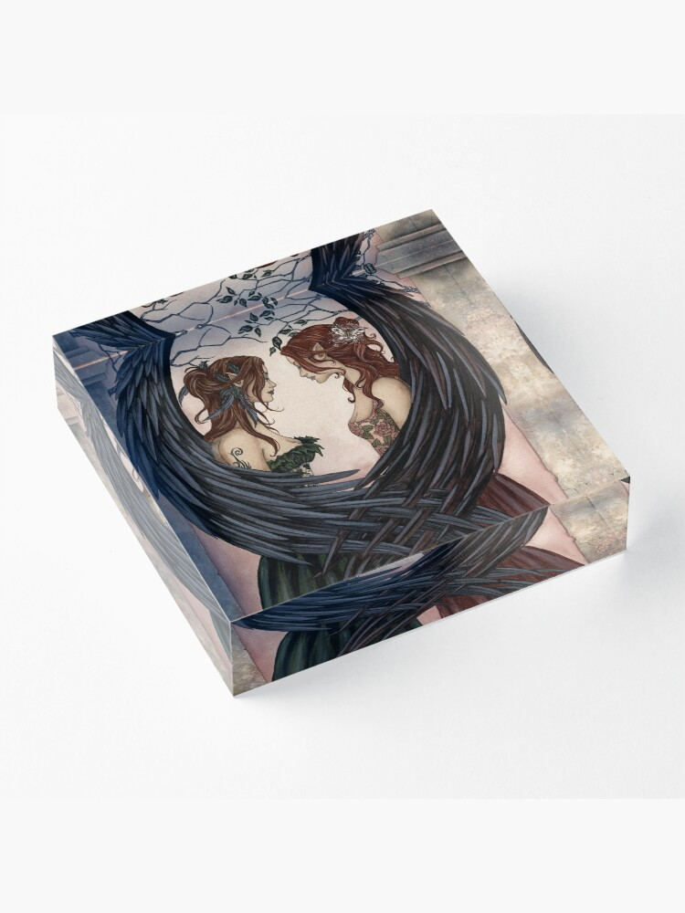 Alternate view of Sisters Acrylic Block