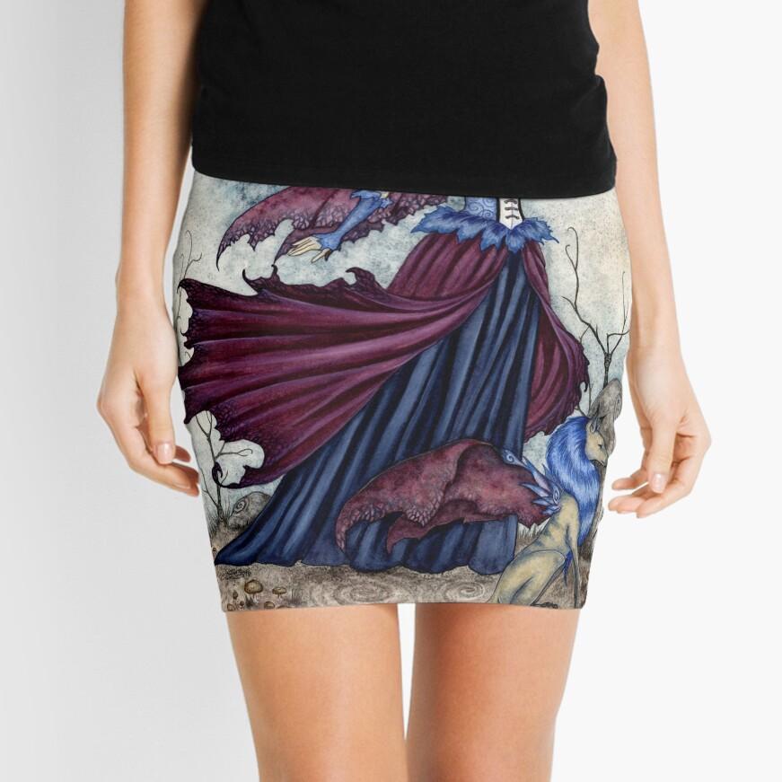 The Moon Is Calling Mini Skirt