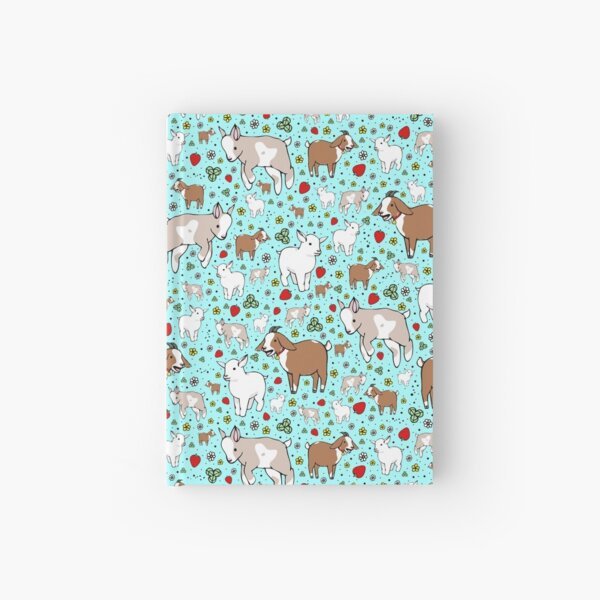 Goats in Blue Hardcover Journal
