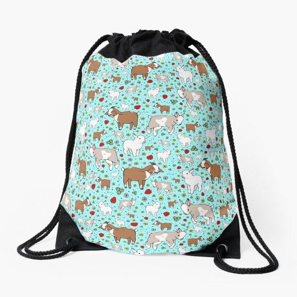 Goats in Blue Drawstring Bag