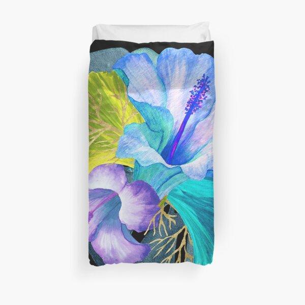 Flower Power – Blue Tropical Duvet Cover