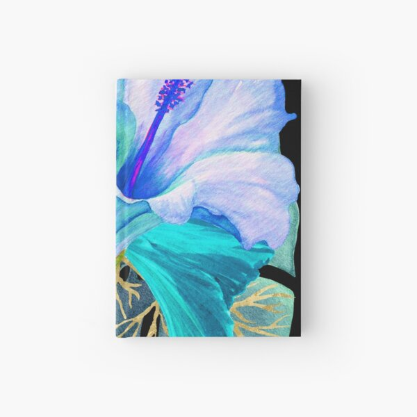 Flower Power – Blue Tropical Hardcover Journal