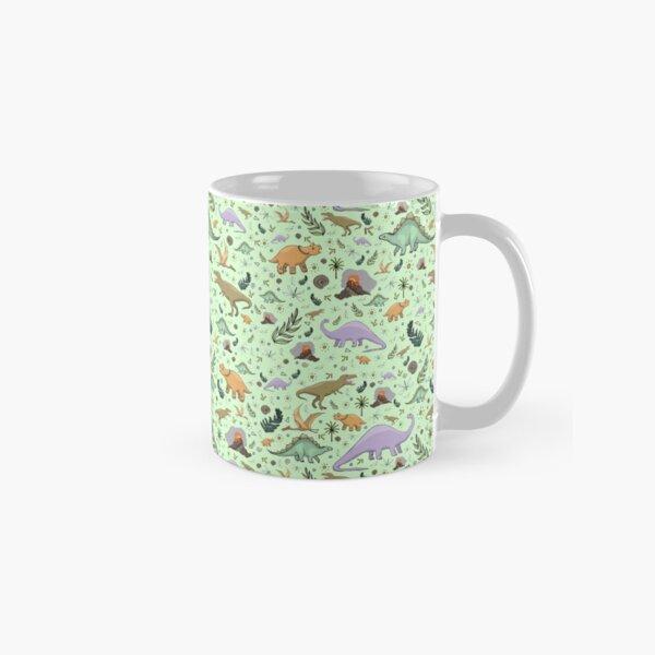 Dinosaurs in Green Classic Mug