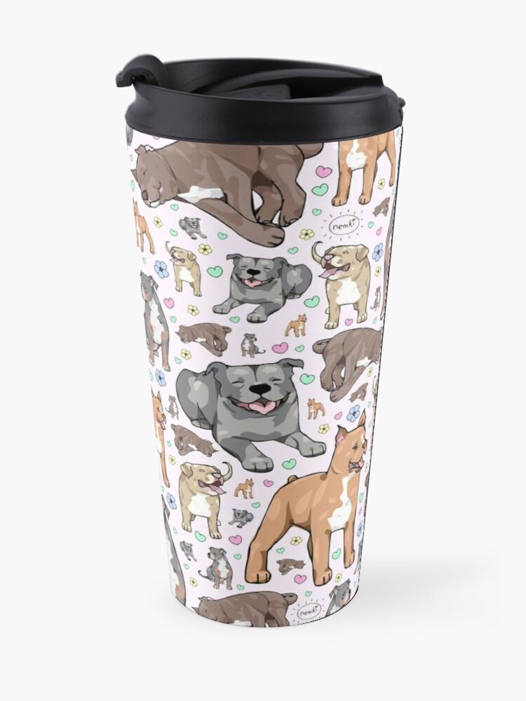 Alternate view of Cute Pitbulls Travel Mug