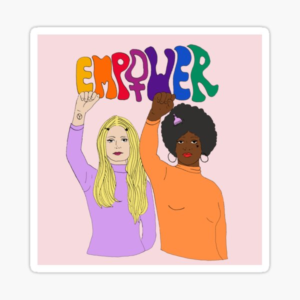 Gloria Steinem and Dorothy Pitman Hughes Empower Sticker