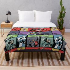 Super Robots Throw Blanket